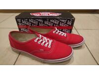 Women's Red Vans plimsolls