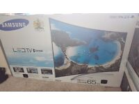 """SAMSUNG Smart 65"""" 3K LED Curved TV (New & Boxed)"""