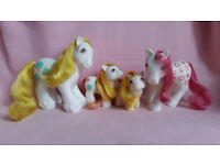 Vintage My little Pony - Apple Delight Family - Rare and Complete