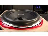 (( SOLD )) Orion Hcca 15 Inch Black Coil Sub Subwoofer MINT CONDITION with Custom Built Box