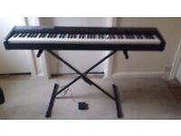 Casio Piano Keyboard - 88 Weighted Keys (CDP-100) + Stand + Pedal