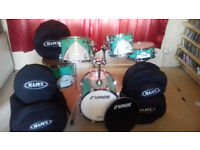 5 pce Sonor select Force Shell Pack plus cases and extra Display Head