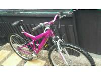 Lady's full suspension mountain bike