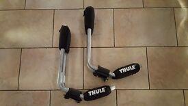 "Set of Thule ""J"" bars for car roof sea kayak transportation. MINT"