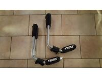 "Set of Thule ""J"" bars for car roof sea kayak transportation. MINT"