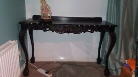 Solid Wood table .Great Condition. Beautiful Antique design. Collection Only.