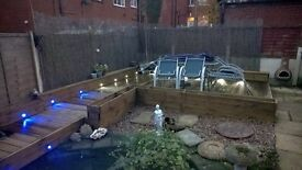 TIMBER DECKING with LIGHTS - 9 sqr mtrs ANY LOCATION