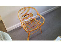 Woven bamboo chair, ideal for conservatory, £10