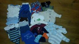 Baby boy clothes bundle 3-6 months (including Ralph Lauren baby boy romper) - 33 items
