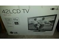 42 inch lcd tv with built in freeview