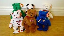 Ty Beanie Babies (Retired) – Bear Pack 4