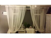 Tiule curtains White brand New, 2 pairs