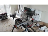 Metabo sliding mitre saw 110v