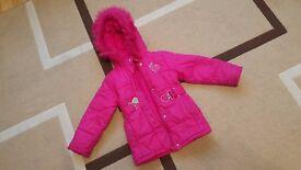 pink girls jacket 3-4 years