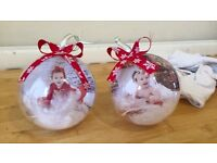 Hand made Christmas baubles