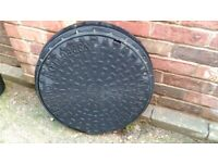 Inspection drain cover and frame, New, 500mm Round type