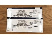 2x seated tickets- The Weeknd 11th March - Metro Radio Arena