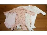 Girls Tiny Baby Clothes Bundle