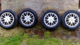 Ford 4 stud Alloy wheels and tyres