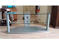 Glass tv stand. Collect from Dartford. £10