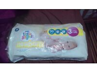 Size 3 opened nappies