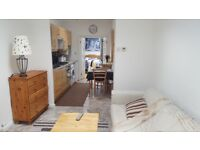 Spacious, bright one bedroom flat with garden
