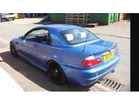 BARGAIN NEEDS GONE BMW M3 ESTORIL BLUE WITH HARDTOP WHITE LEATHER FSH