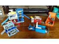 Hot wheels & matchbox 5x foldaway playsets/track bundle for small die cast cars