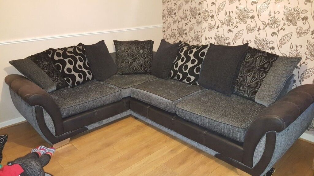 Corner Sofa Cuddle Chair And Footstool In Norwich