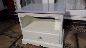 Renovated TV Unit White & Grey
