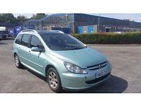 2002 (02 REG) Peugeot 307 2.0 HDI Estate - £595 - Mot'd 15/08/16 & 3 Months Warranty