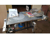 ELU TGS 170 Flip over table saw + extension and extra saw blades