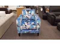 DFS LUSTRE PATTERN ACCENT BLUE CHAIR FREE DELIVERY DERBY NOTTINGHAM Viewing Welcome