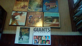 COUNTRY AND WESTERN -10 X PRESENTATIONAL VINYL LP'S-BOX SETS-EX