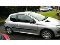 Selling nice 2004 1.1 Peugeot 206 78.000 miles clean year mot tax clean car