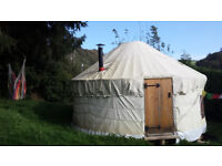 15ft Yurt. Sturdy, well made, window and skylight, wooden floor inc