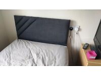 Single bed with storage, mattress and headboard
