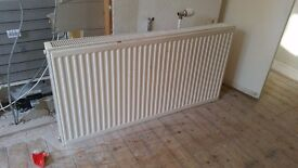 1 x White Double Radiator 120cm wide x 60cm height