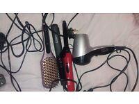 Brand new hair straightening brudh hair dryer straighteners and curlers