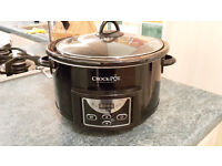 Crock-Pot Digital Slow Cooker 4.7l Capacity Black
