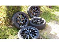 17 inch RENAULT sri alloys with tyres. All tyres have more than 6mm tread.5×108