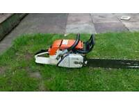 Stihl 038 full working order 18 or 20 inch bar with good chain
