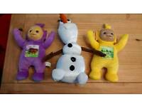 TELETUBBIES AND FROZAN OLAF BUNDLE
