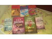 Dan Brown Harry Potter Books Excellent Condition Great Xmas Present