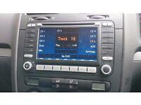 VW MFD2 SATNAV CD DOUBLED DIN HEADUNIT ORIGINAL OEM