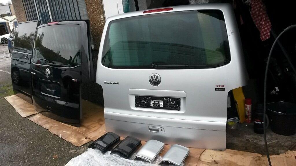 Vw T5 T51 Transporter Caravelle Multivan Tailgate Conversion From Barn Door Day Van Camper