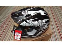 thh motocross motox quad enduro helmet size xxl 63-64cm in black