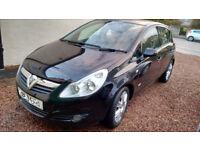 Vauxhall Corsa, 1.2 Design, Black, 2008 (58), Full 12 months MOT to Nov 2018, Very Good Clean Car