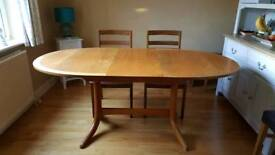 Nathan Dining Table and 4 chairs, price reduced. SOLD
