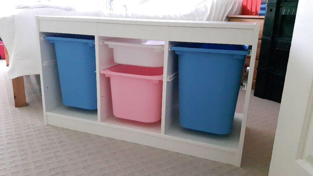 ikea trofast storage unit for sale excellent condition. Black Bedroom Furniture Sets. Home Design Ideas